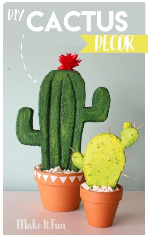 Diy Cactus Decor A Girl And A Glue Gun