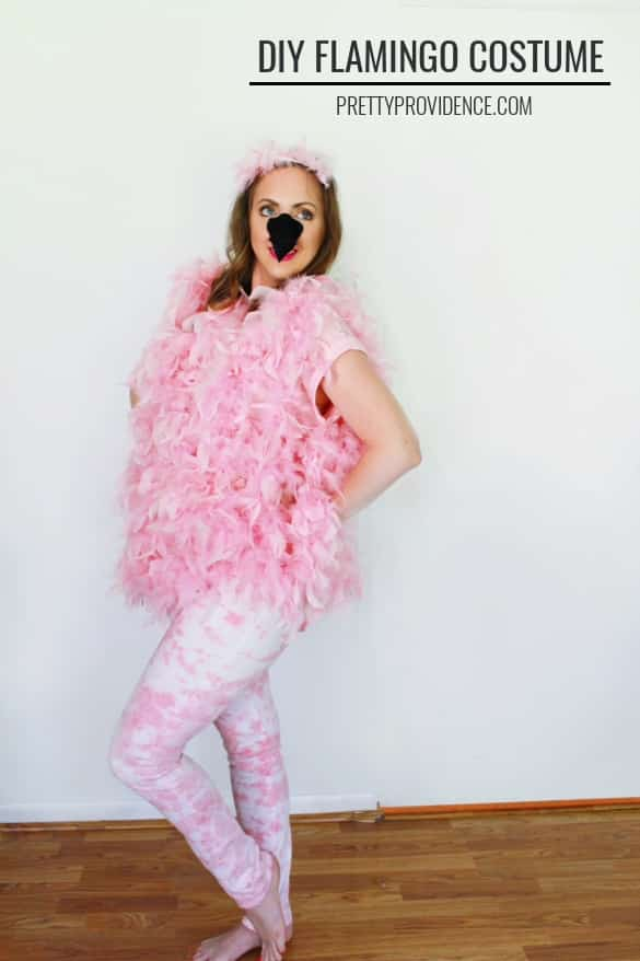 Flamingo Halloween Costume For Adults