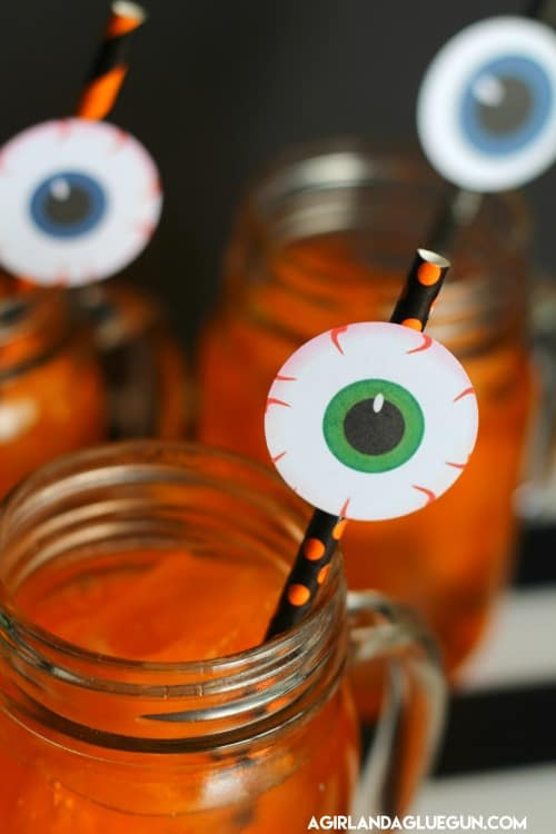 Halloween Slush Drink With Eyeball Printables A Girl And