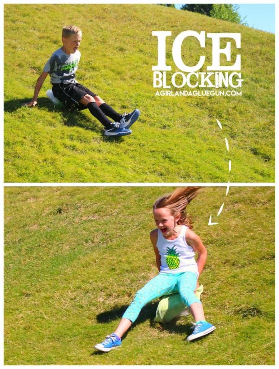 ice-blocking-sledding-during-the-summer