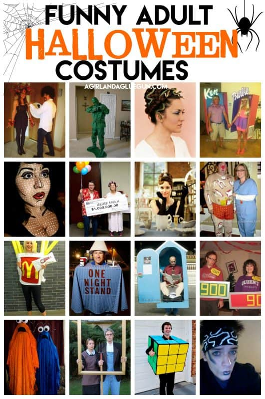 funny halloween costumes for adults that you can diy a girl and a glue gun