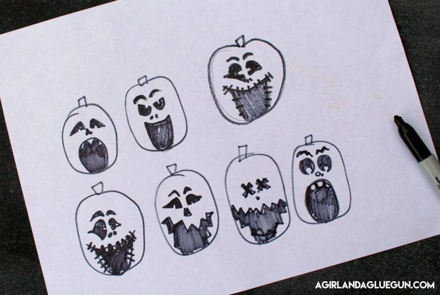 sketch-out-pumpkin-faces