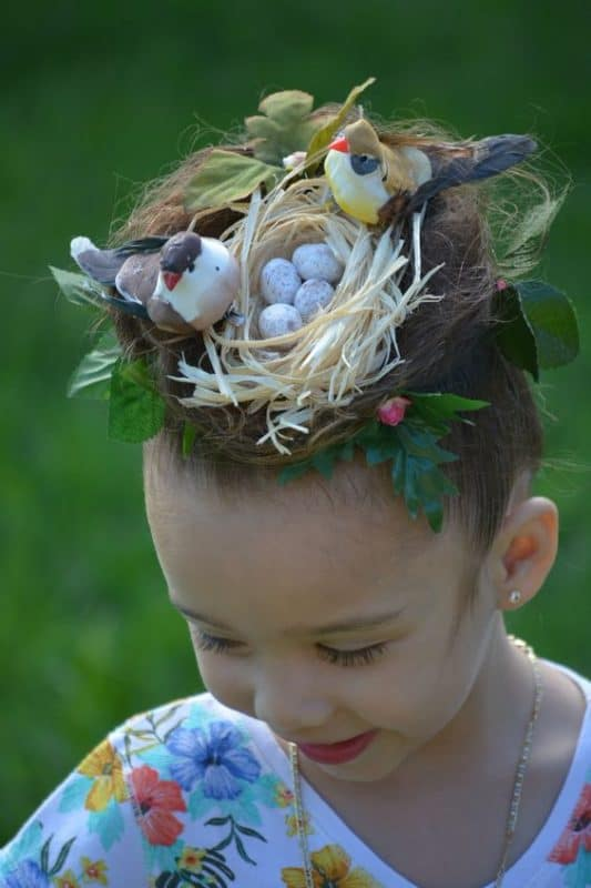 how to make a donut bun for crazy hair day