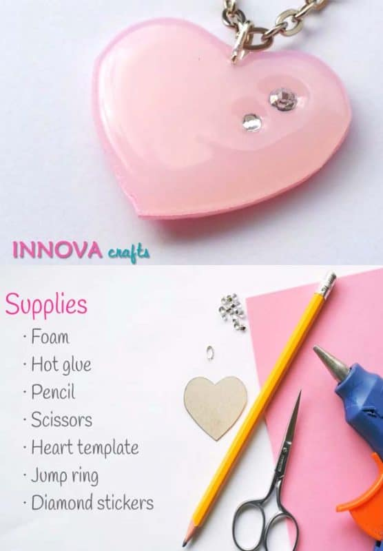 diy-cute-heart-pendant-with-hot-glue