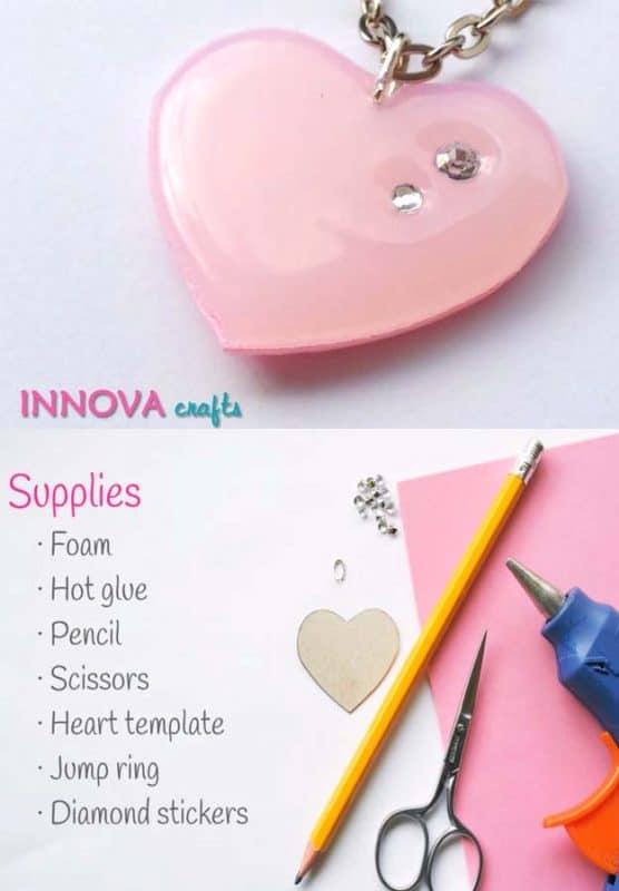 diy-cute-heart-pendant-with-hot-glue