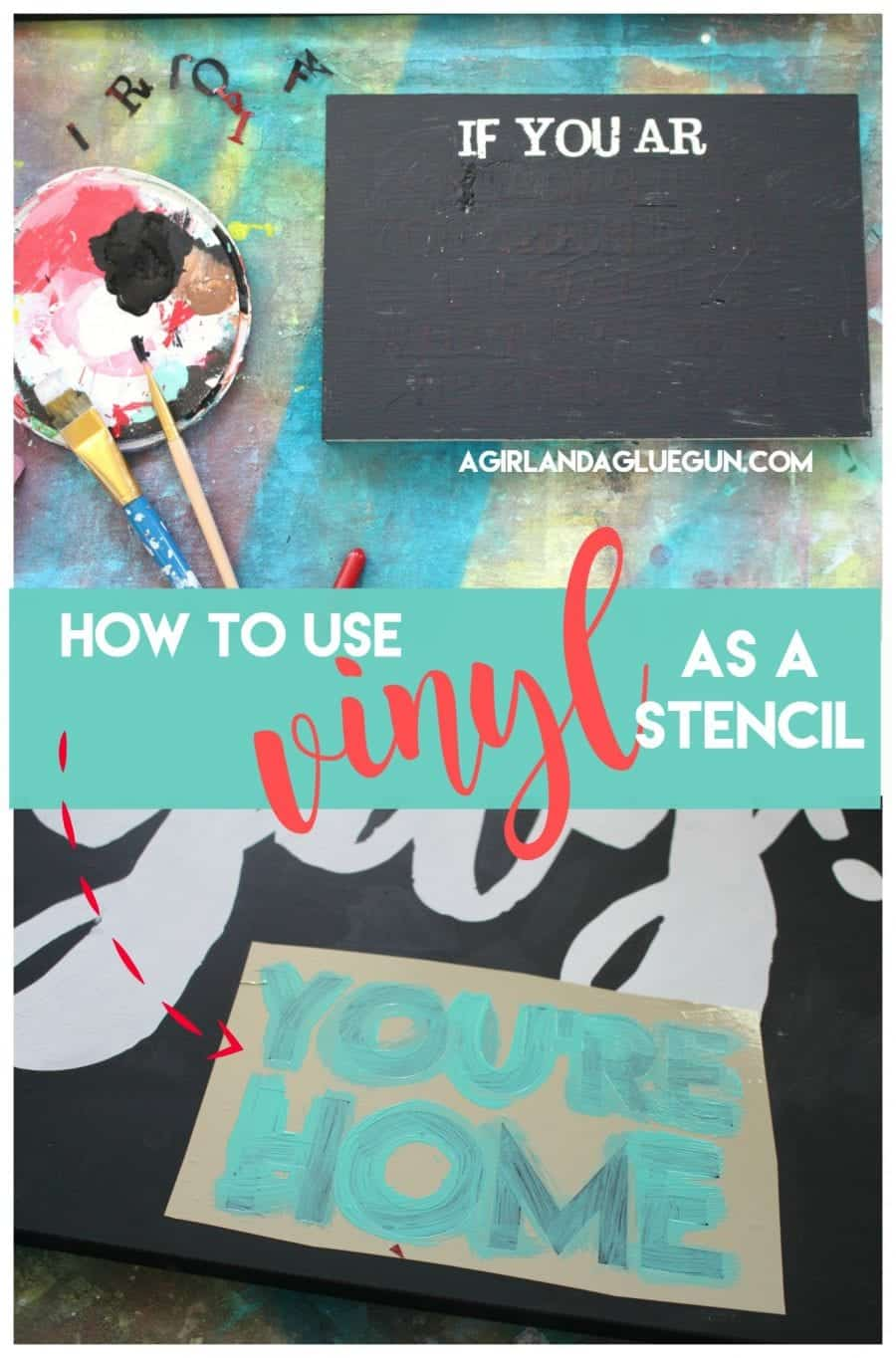how to use stencil vinyl