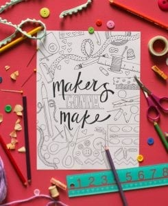 Free Crafty Coloring Page!