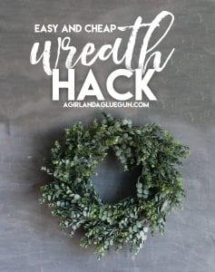 How to make a pretty green wreath for CHEAP!