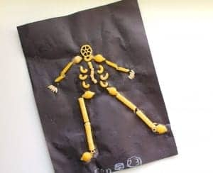 Noodle skeleton–kid craft!
