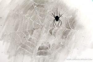 Water resist spider webs–kids crafts!