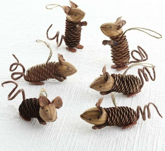 pinecone-mice