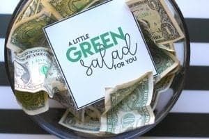 Green salad money gift