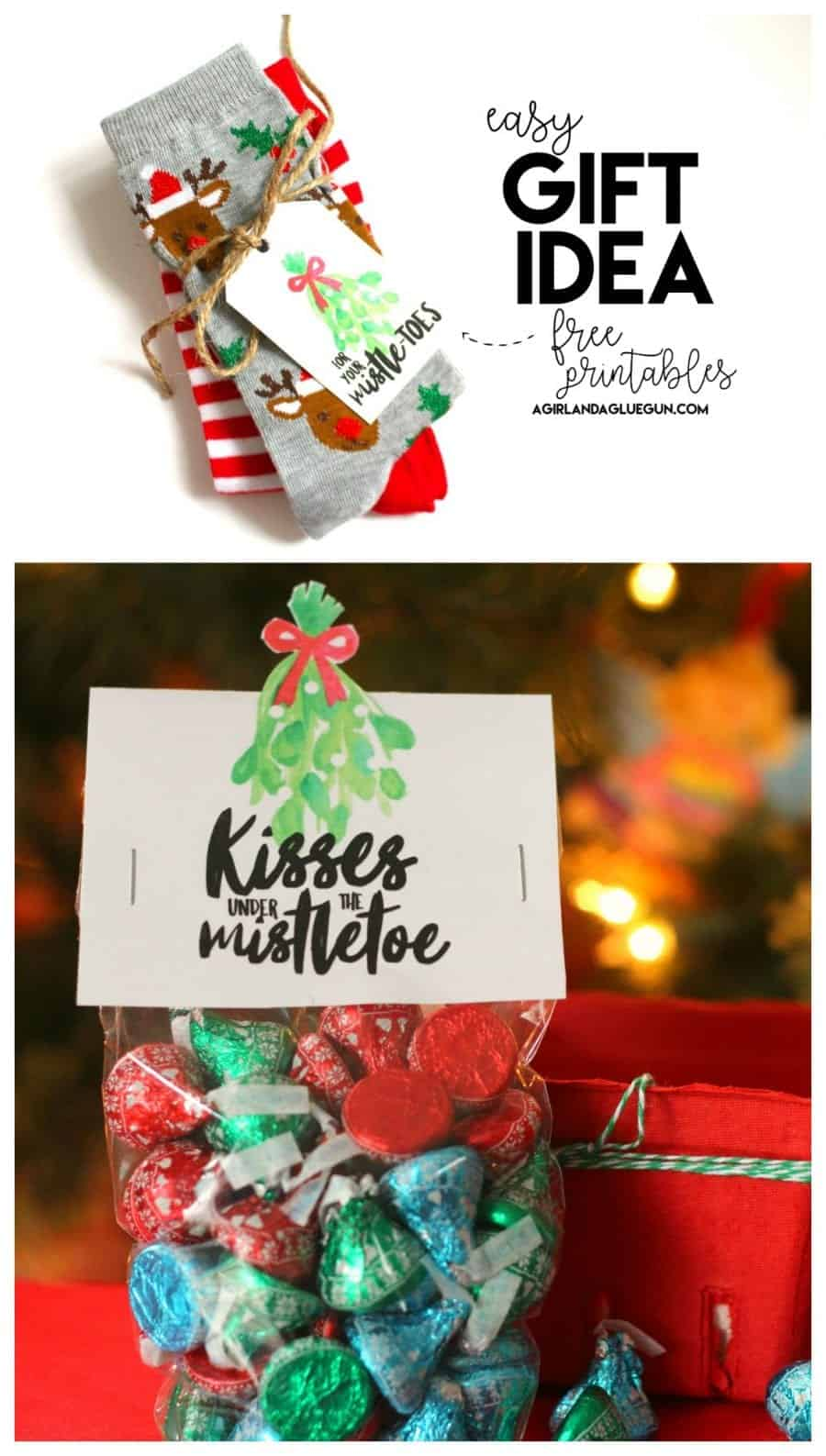 photo relating to For Your Mistletoes Printable named Mistletoe reward strategies-cost-free printables - A woman and a glue gun