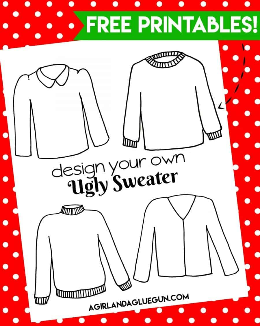 free-ugly-sweater-coloring-printable