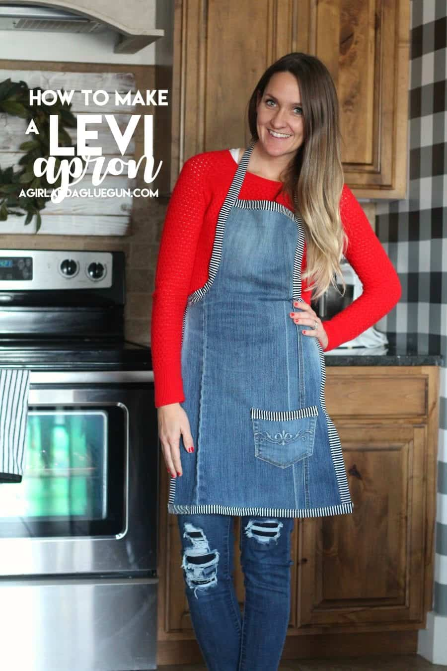 how to sew up a levi apron from a pair of pants