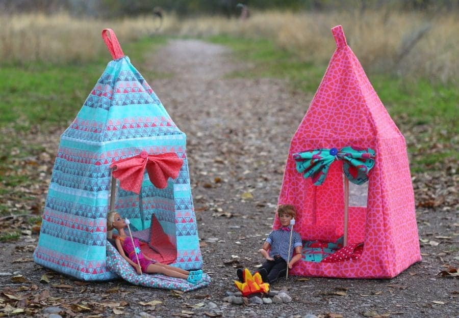 how to make a barbie tent