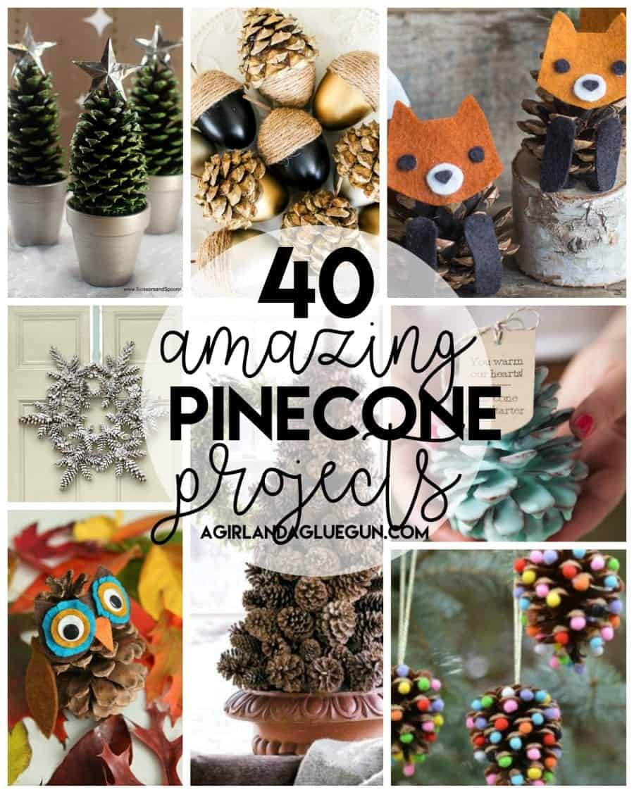 40 Awesome Pinecone Crafts And Projects A Girl And A