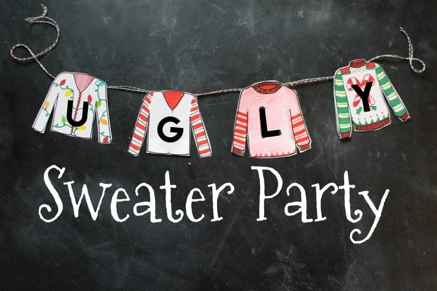 How to throw the ultimate Ugly Sweater Party - A girl and ...