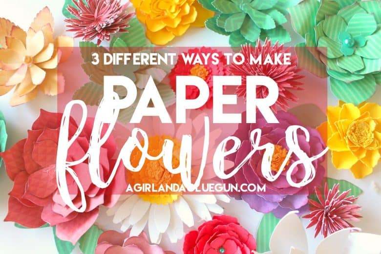 How to make paper flowers a girl and a glue gun mightylinksfo