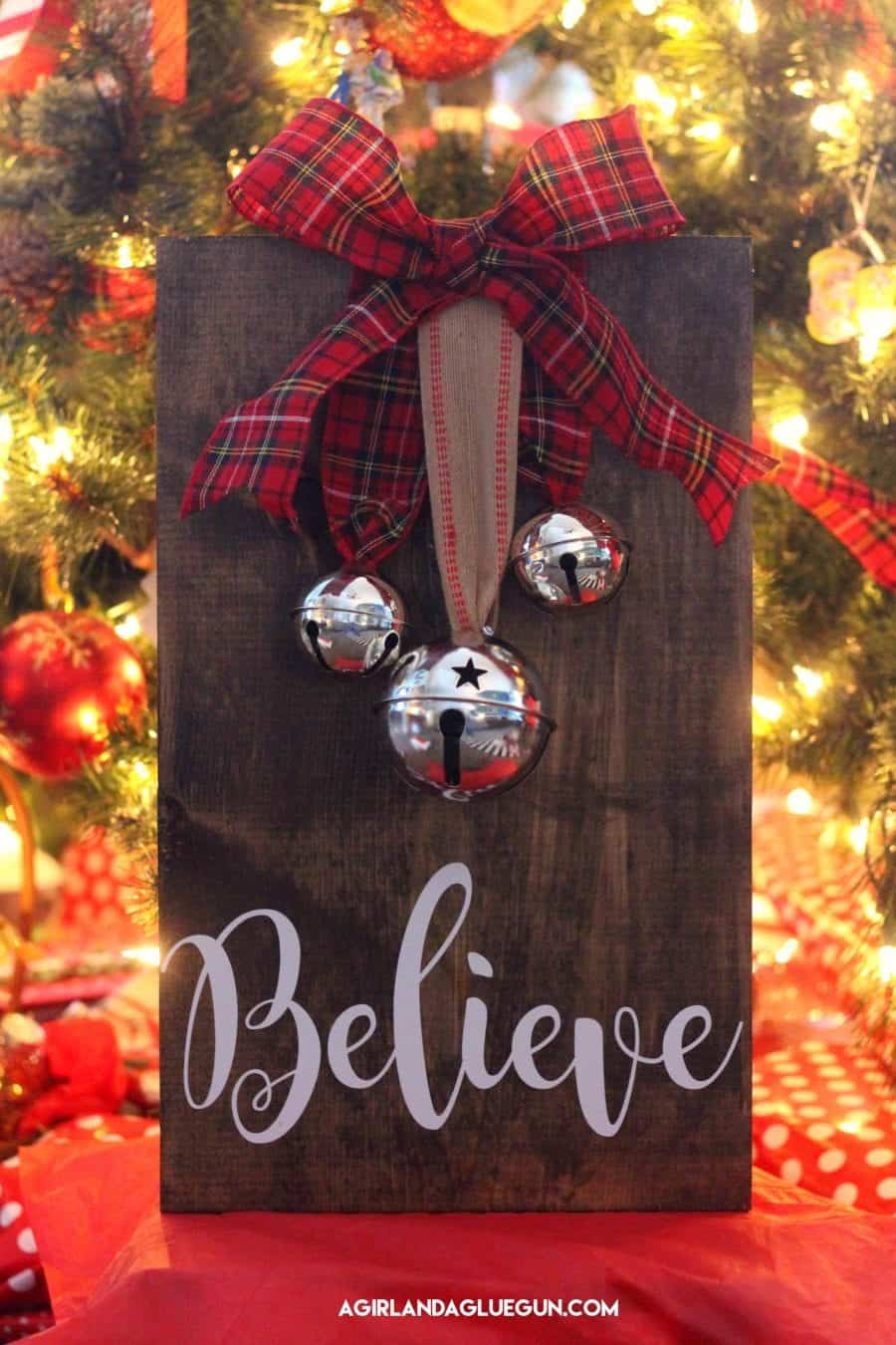 Christmas sign with bells