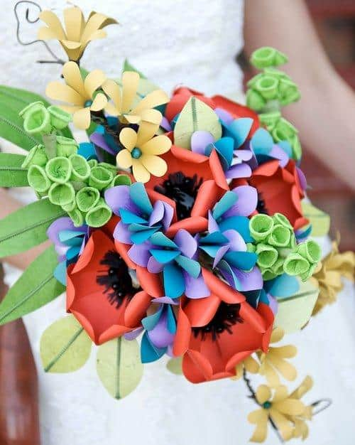 Paper-Wedding-Flowers