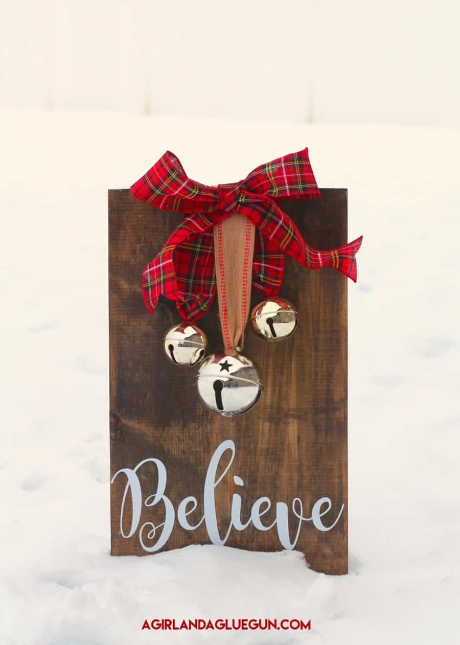 believe jingle bells sign