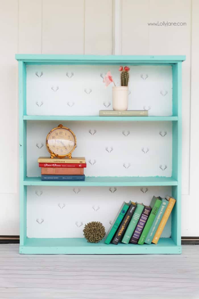 chalk-paint-bookcase-makeover