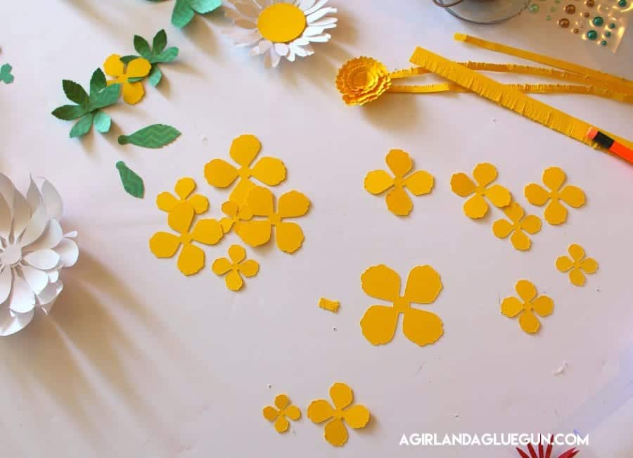 easy way to cut out flowers
