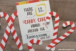Candy cane hunt–free printable