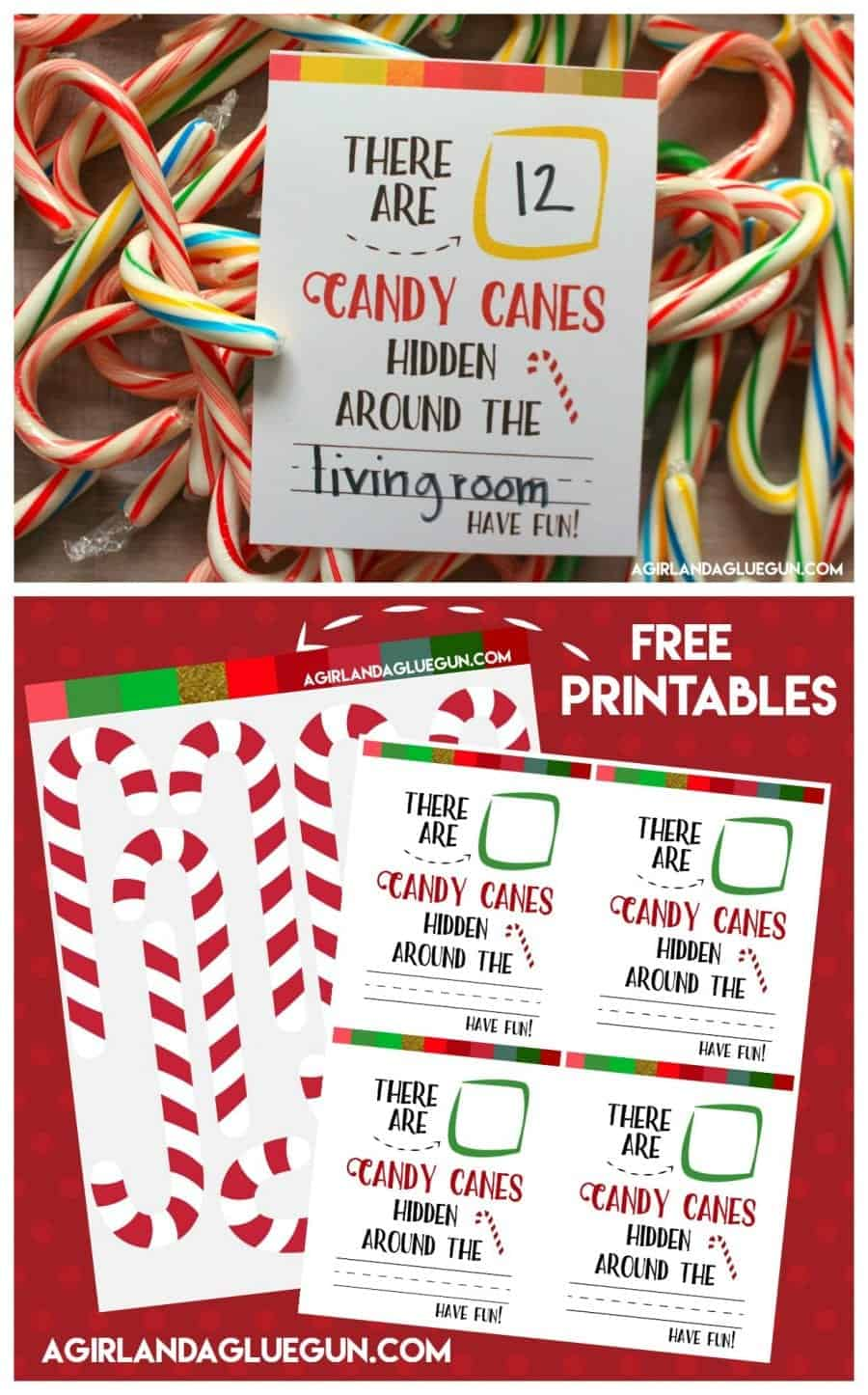 picture about Printable Candy Cane identify Sweet cane hunt-absolutely free printable - A female and a glue gun