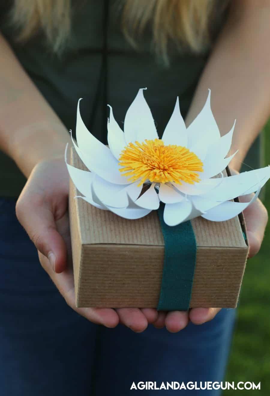 fun paper flower gift idea