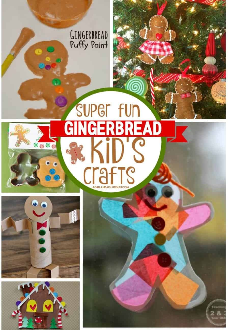 Gingerbread Kid Crafts And Diy A Girl And A Glue Gun