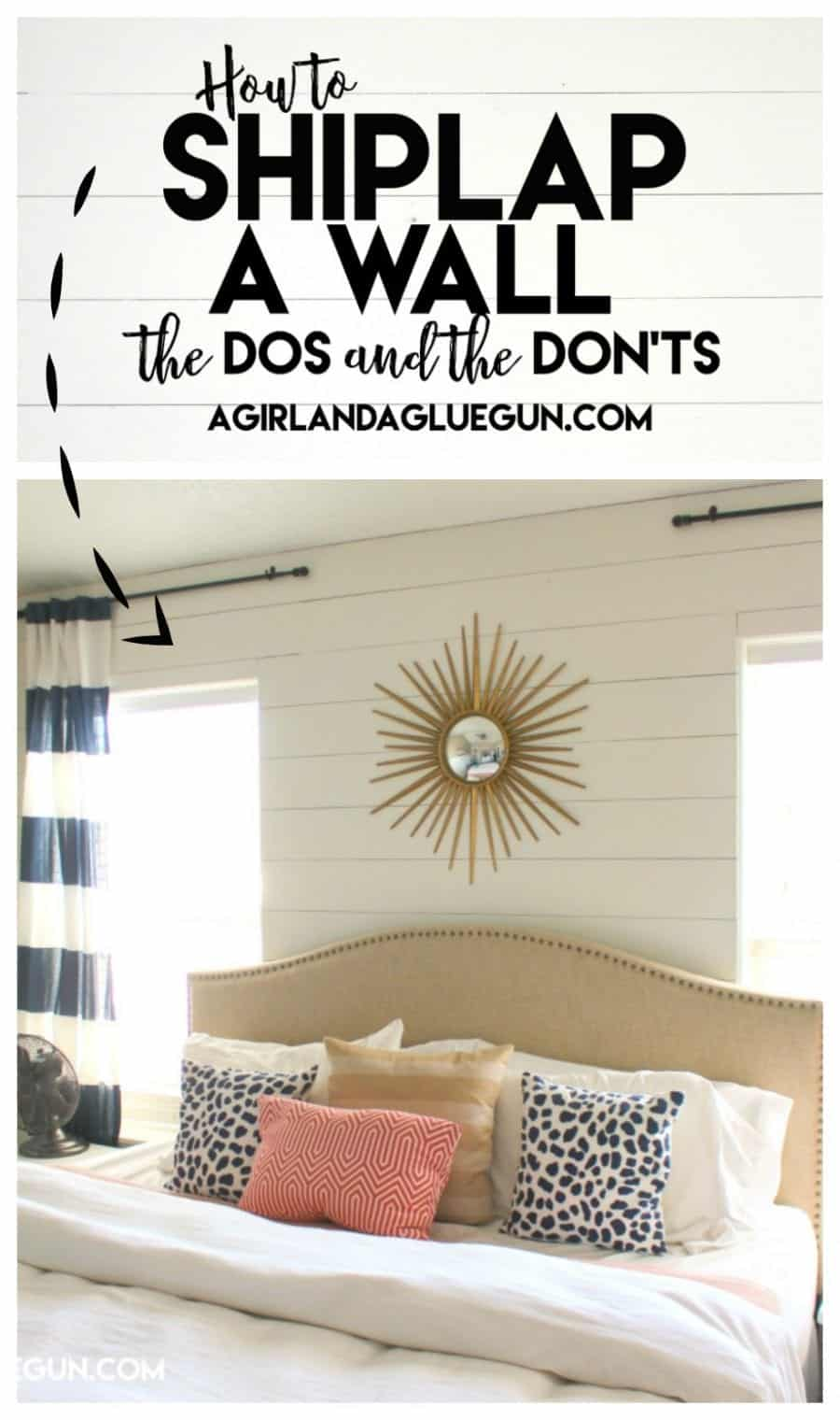 How to shiplap a wall the do 39 s and don 39 ts a girl and a Accent wall do s and don ts