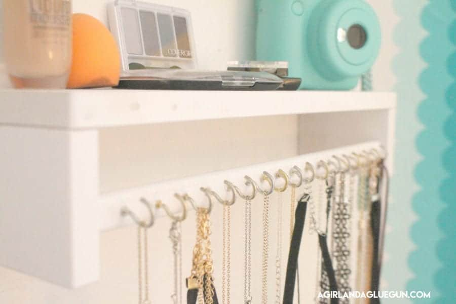ikea spice rack necklace holder