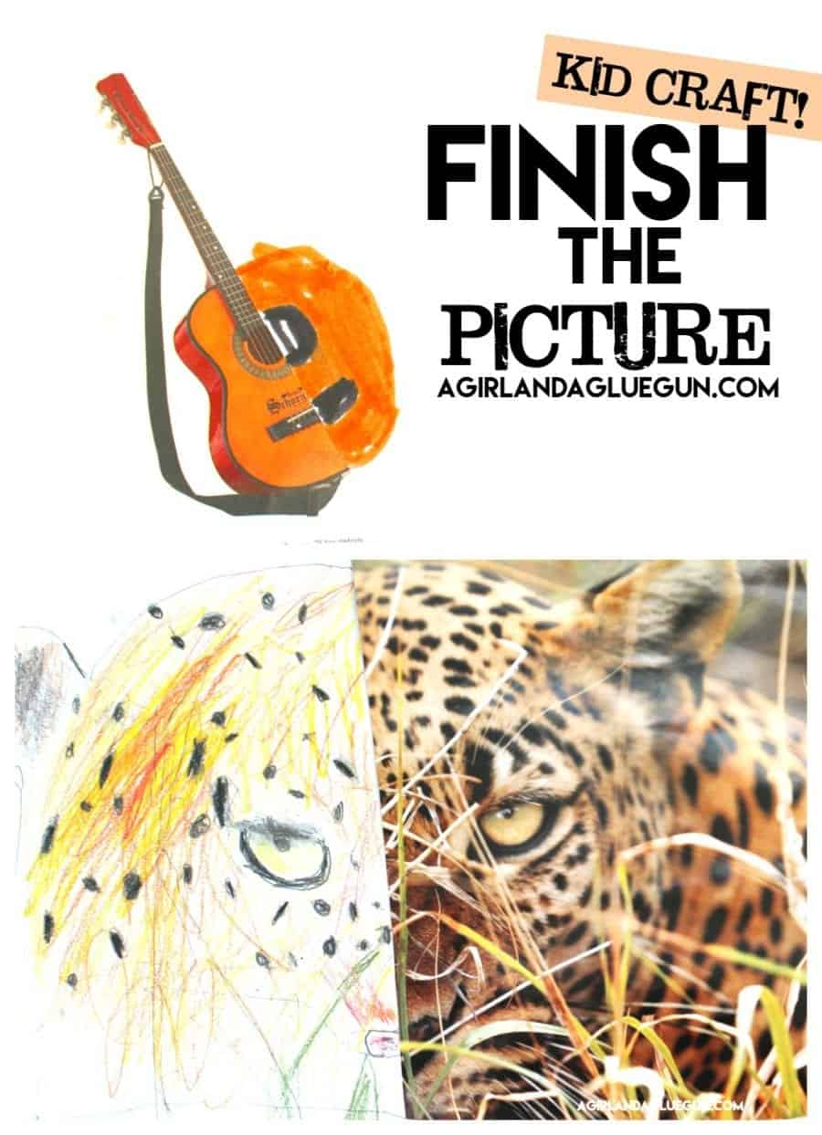 kid craft finish the picture! Kids will love this activity