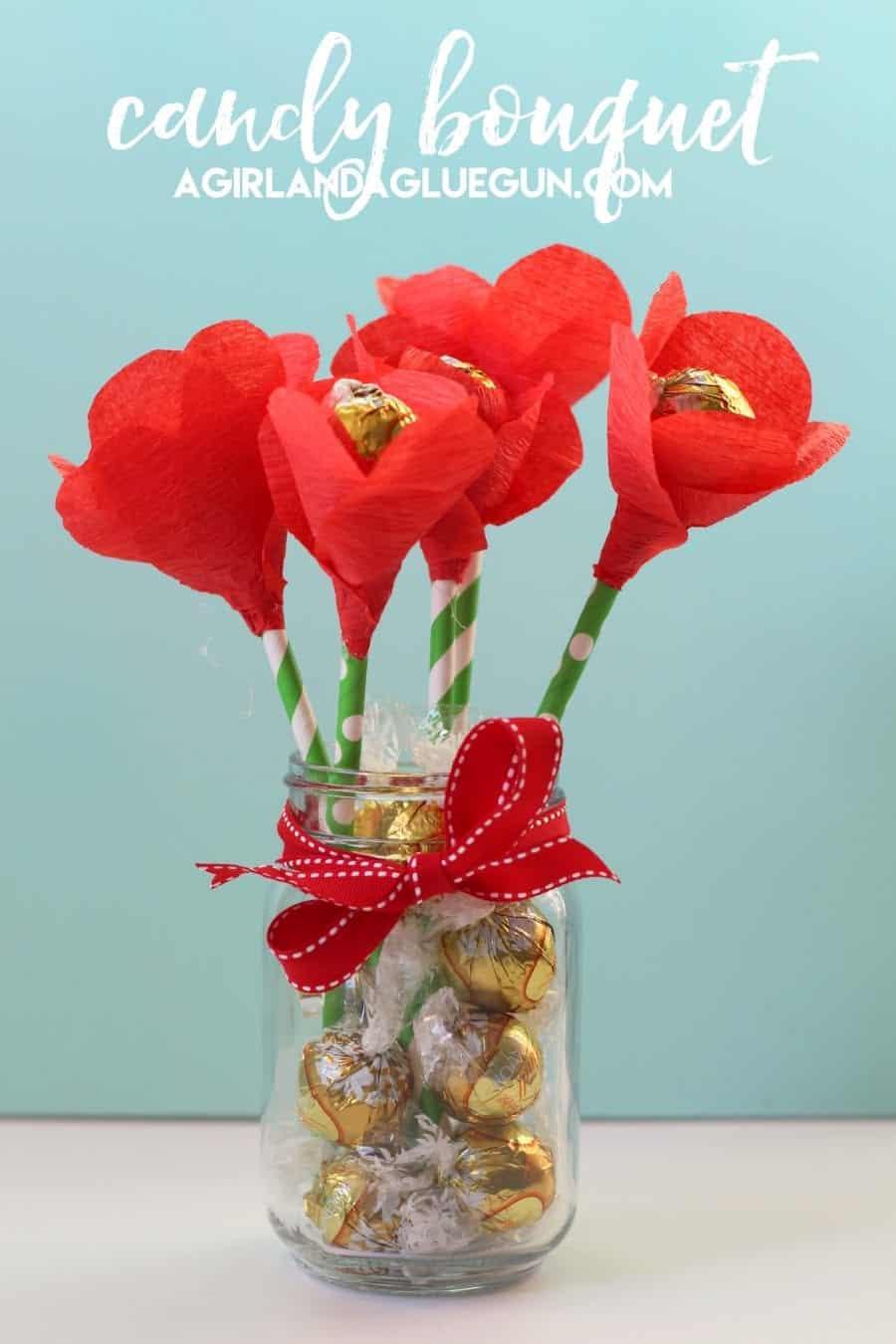 Candy flower bouquet a girl and a glue gun candy flower bouquet izmirmasajfo Choice Image
