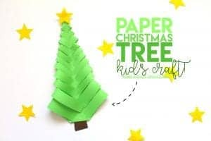 Paper Christmas Tree–Kid's craft!