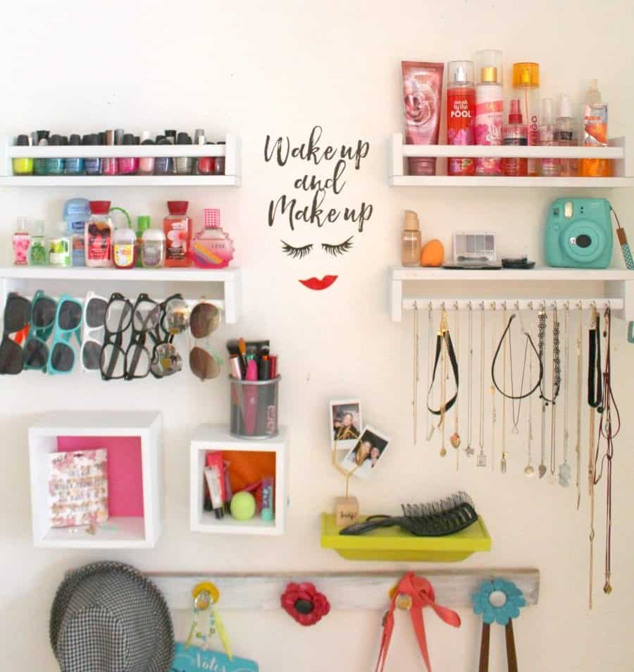 make up wall for tweens