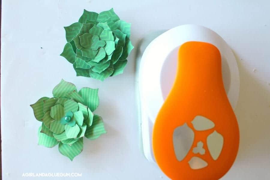 succulent paper punch