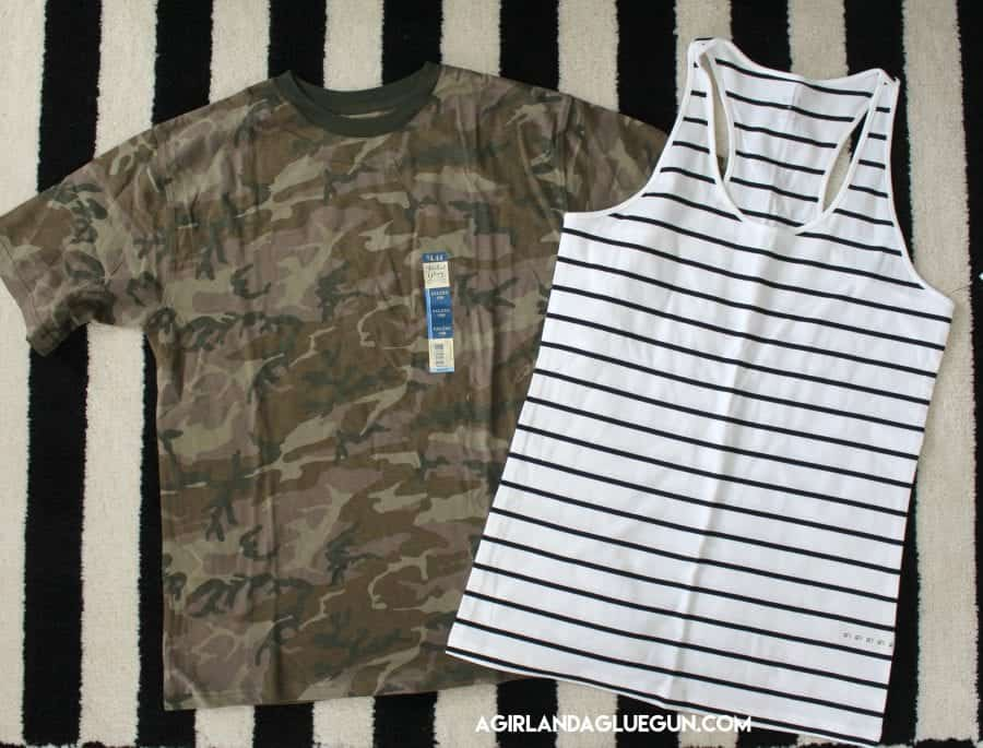 two big shirts