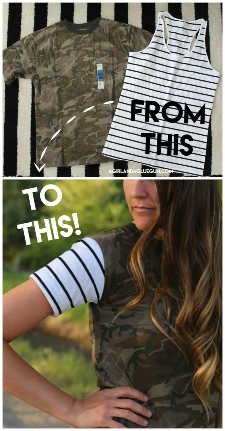 two shirts into one amazing diy