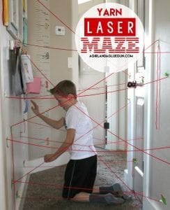 laser maze with yarn!