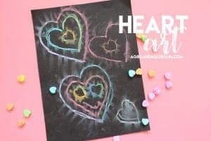 chalk heart art