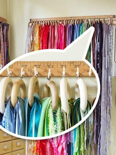 draped ribbon storage
