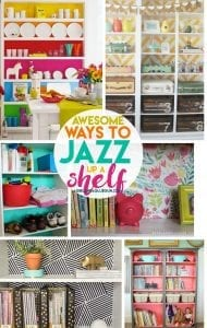 Fun ways to jazz up a shelf!