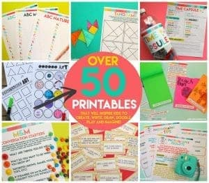 Kids printable pack–50 pages of FUN!