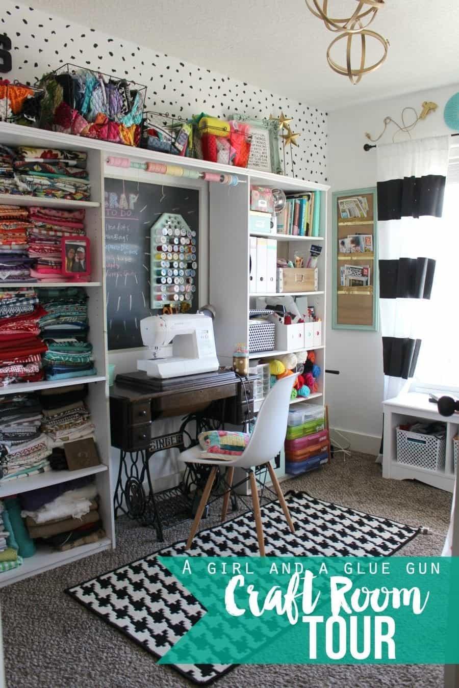 Organizing My Craft Room A Girl And A Glue Gun