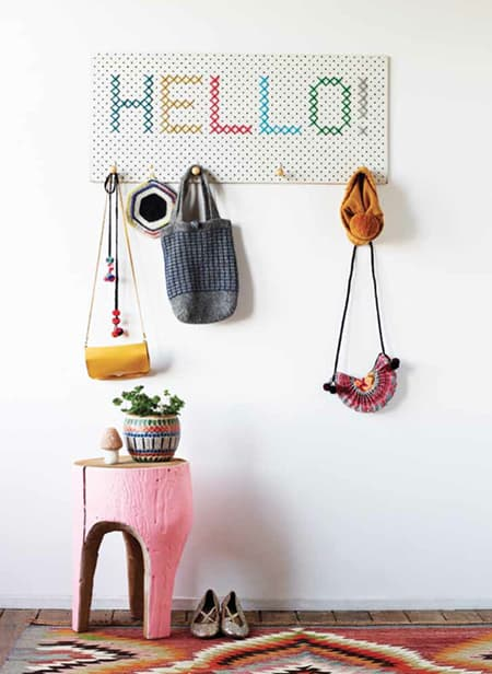 organize with a Peg board