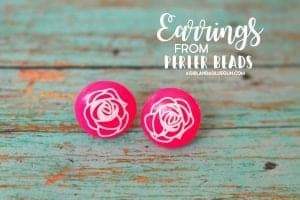 Melt perler beads into earrings!