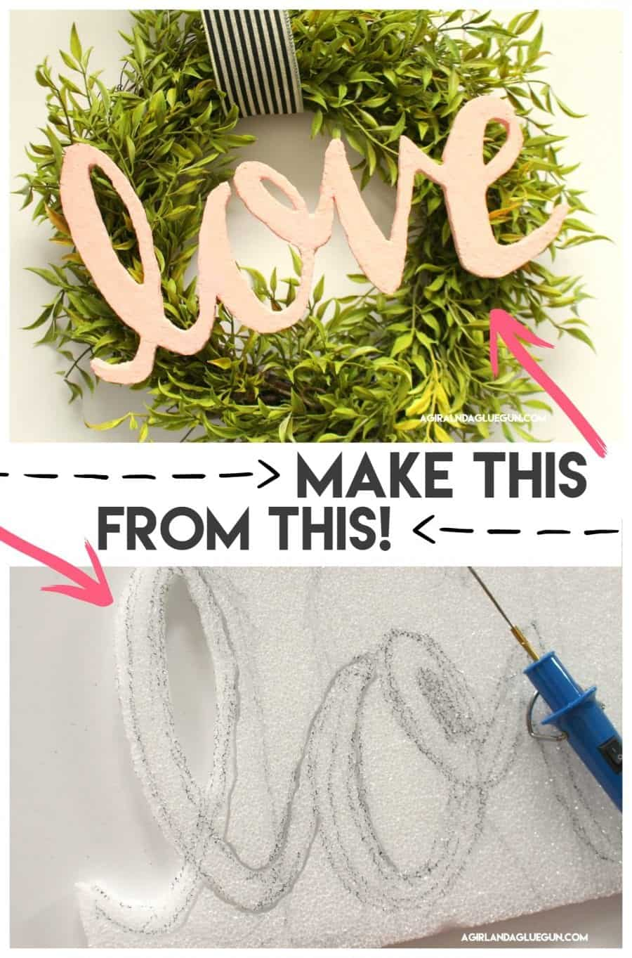 How to make words out of foam! - A girl and a glue gun